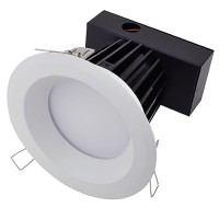 6-in Retrofit Recessed Dimmable 30W LED Downlight with White Trim, ETL-Listed