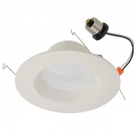 Non-Dimmable 6-in Retrofit Recessed 13-Watt LED Downlight with White Trim