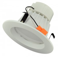 Non-Dimmable 4-in Retrofit Recessed LED Downlight with White Trim, 11-Watt