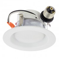 "4"" Recessed Dimmable 13W LED Downlight with White Trim 90-CRI, UL & ENERGY STAR"