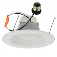 6-Inch Recessed Dimmable 16W LED Downlight with White Trim 90-CRI, UL & ENERGY STAR