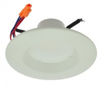"5""-6"" Ballast-Compatible CFL Direct Replacement Retrofit Recessed 13W LED Downlight with White Trim, UL & ENERGY STAR"