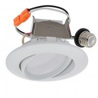 "4"" Recessed Dimmable 10W LED Adjustable Head Downlight with White Trim 90-CRI, ETL & ENERGY STAR"