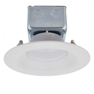 "5-6"" Dimmable Retrofit 15W LED Downlight White Trim 90-CRI with Junction Box, ETL & ENERGY STAR"
