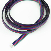 18-Gauge 4-Conductor Color-Coded Wire for RGB Color Changing LEDs