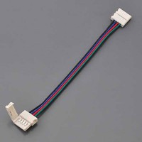 3-in 4-Conductor RGB LED Strip Quick Connector-to-Quick Connector