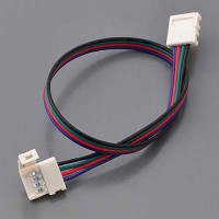 8-in 4-Conductor RGB LED Strip Quick Connector-to-Quick Connector