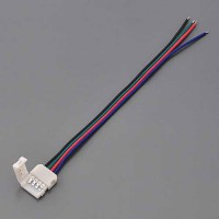 RGB 4-Conductor Quick Connector-to-Wire for LED Color-Changing Flexible Strips