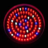 90W High Power Round UFO Quad-Band LED Hydroponic Grow Light with Red, Blue, Orange, and White (Final Sale)