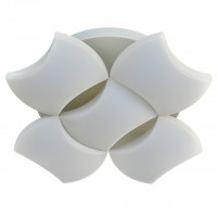 25-Watt LED Surface Mount Ceiling Light with 5 Wavy Edge Modules in Sand White Finish, Neutral White 4000K