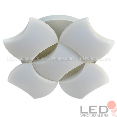 25W LED Surface Mount Ceiling Light with 5 Wavy Edge Modules