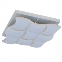 45-Watt LED Surface Mount Ceiling Light with 9 Wavy Edge Modules in Sand White Finish, Neutral White 4000K