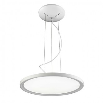 "20"" Round Disc 36W LED Pendant Ceiling Light in White Finish, Neutral White 4000K"