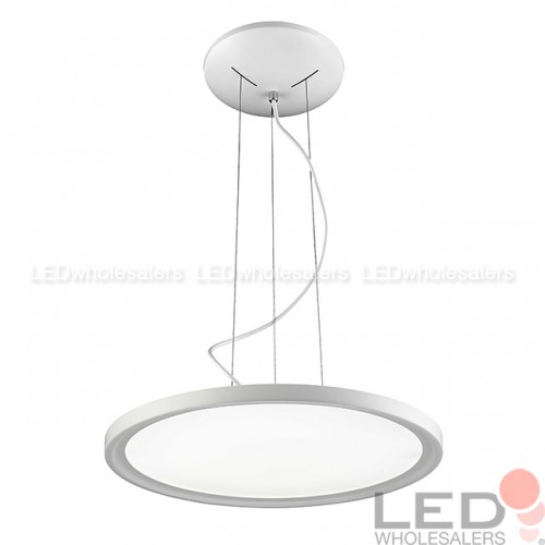 20 round disc 36w led pendant ceiling light in white finish 20 round disc 36w led pendant ceiling light in white finish neutral white 4000k aloadofball Choice Image
