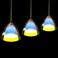 OBSESS 09010 5W COB LED Mini Pendant with Color Plating Glass Shade and Aluminium Trim, Polished Chrome