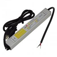 12-Volt 30-Watt Waterproof Power Supply with 3-Prong Plug