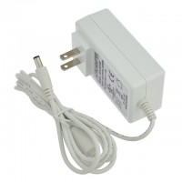 24V 1.5A 36W Wall-Mount AC/DC Power Adapter, 5.5x2.5mm DC Plug with Spring Clips, White, UL-Listed