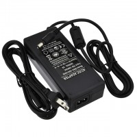 5V 12A 60W AC/DC Power Adapter with 5.5x2.5mm DC Plug and 2.1mm Adapter, Black, UL-Listed