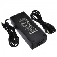 12V 12.5A 150W AC/DC Power Adapter with 5.5x2.5mm DC Plug and 2.1mm Adapter, Black, UL-Listed