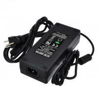 12V 20A 240W AC/DC Power Adapter with 5.5x2.5mm DC Plug and 2.1mm Adapter, Black