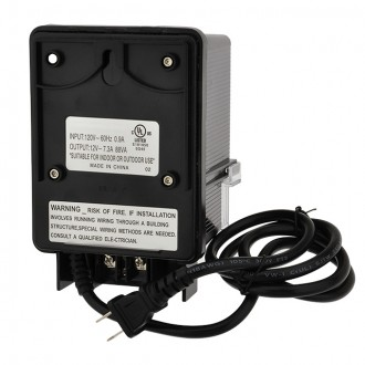 12V AC 88-Watt Landscape Lighting Transformer with Photo Sensor and Rotary Control Timer Switch, UL-Listed