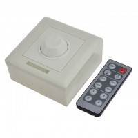 PWM Dimmer for LED Lighting with 12-Button IR Wireless Remote 12-24VDC 6A