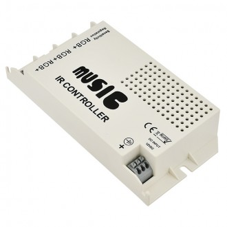 3-Port 72W Music Controller with Wireless IR Remote for Color