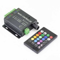 Music Controller with IR Remote and Audio Input for RGB LED Lights