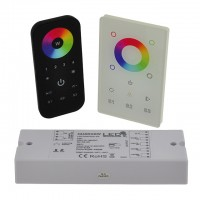CC01 RF 4-Channel Receiver, Wall-Mount Controller, or Remote for Single Color, RGB, and RGBW LED Strips