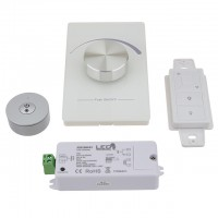 DM01 RF 1-Channel 12-36V 8A Receiver Dimmer or Wireless Remote for Single Color LED Strips