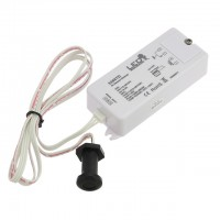 1-Channel 12-36V 8A Dimmer with IR Wave, LED Touch, or Insulated Touch Sensor for Single Color LED Strips and Modules