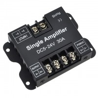 Heavy Duty Data Repeater Signal Amplifier for Single Color LED Strips and Modules, 5-24V 30A