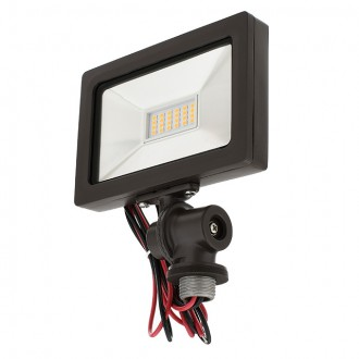 """Series-8 Ultra-Slim Low Voltage 15W LED Landscape Flood Light with 1/2"""" Threaded Knuckle Mount and Ground Stake"""