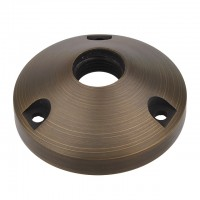 "MarsLG BRS1 Solid Brass Surface-Mount Base for Low Voltage Landscape Light with 1/2"" NPT Thread in Antique Brass Finish"