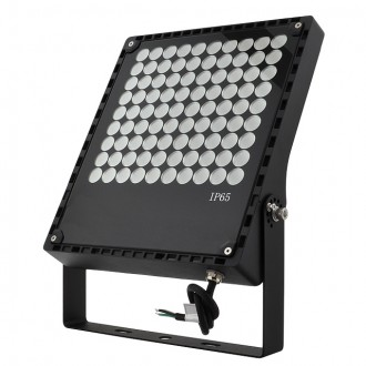 Series-6 Ultra-Slim High-Efficiency 100W LED 60º Outdoor Security Flood Light Fixture with Bracket Mount, ETL-Listed, Daylight 5000K
