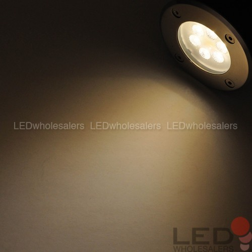 Low Voltage In Ground Led Well Light With Brushed Stainless Steel Trim 3w Or 7w Ledwholesalers