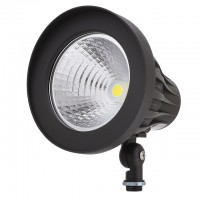 """Heavy Duty 30W LED Round Outdoor Spot Light Fixture with 1/2"""" Threaded Knuckle Mount, UL-Listed & DLC-Qualified"""