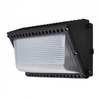 150-Watt Outdoor LED Wall Pack Security Light Fixture, Black Finish
