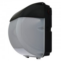 45-Watt Outdoor LED Wall Pack Security Light Fixture with Black Finish, Daylight 5000K