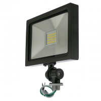 "Series-5 Ultra-Slim 25W LED Outdoor Security Flood Light Fixture with 1/2"" Threaded Knuckle Mount, UL-Listed, Daylight 5000K"