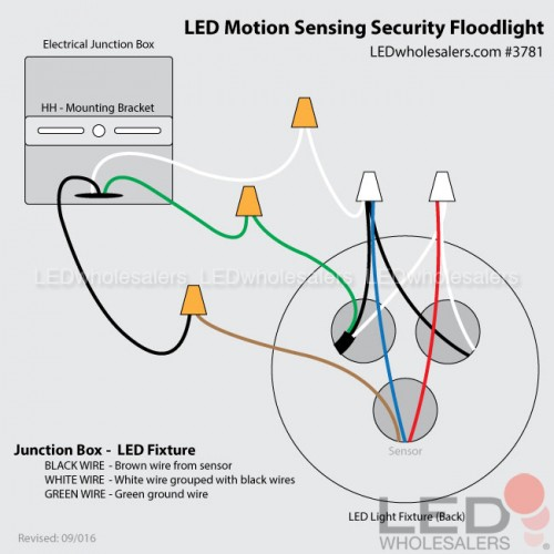 Wiring Flood Light With Motion Sensor