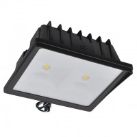 """Series-4 Heavy Duty 70W LED Outdoor Security Flood Light Fixture with 1/2"""" Threaded Knuckle Mount, UL-Listed, Daylight 5000K"""