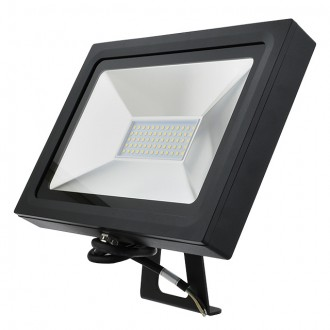 Series-5 Ultra-Slim 50W LED Outdoor Security Flood Light Fixture with Bracket Mount, UL-Listed, Daylight 5000K