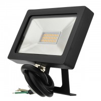 Series-5 Ultra-Slim 15W LED Outdoor Security Flood Light Fixture with Bracket Mount, UL-Listed, 3000K