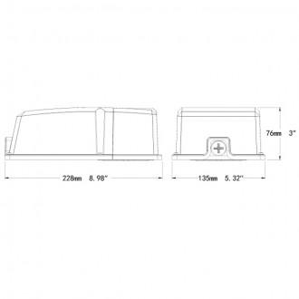 26-Watt LED Mini Wall Pack Outdoor Light Fixture with Photocell Sensor, UL-Listed