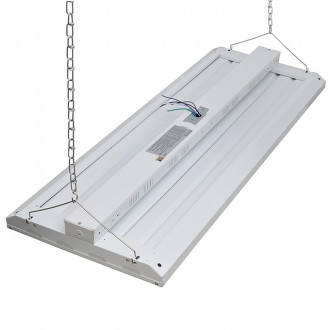 320W Dimmable LED Linear High Bay Light Fixture, UL-Listed & DLC-Qualified, Daylight 5000K