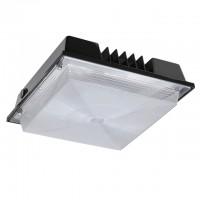 80-Watt Outdoor LED Canopy Ceiling Light Fixture R2, 100-240/277VAC, Daylight 5000K