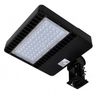 80W LED Parking Lot Low Profile Shoebox Area Security Light, ETL-Listed & DLC-Qualfied, Daylight 5000K