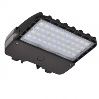 105W LED Parking Lot Low Profile Dimmable Shoebox Area Security Light, ETL-Listed & DLC-Qualfied, Daylight 5000K