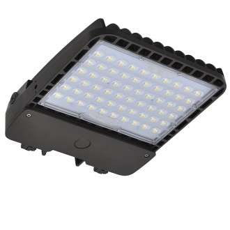200W LED Parking Lot Low Profile Dimmable Shoebox Area Security Light, ETL-Listed & DLC-Qualified, Daylight 5000K